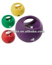 gym rubber handle medicine ball