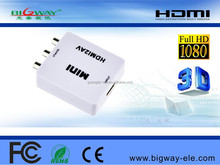 Bigway factroy hot sale HDMI2AV hdmi to av mini hdmi to av cvbs rca converter