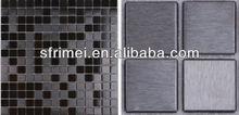 De alambre de dibujo mosaicos de acero inoxidable de azulejos de mosaico de la cuarto de baño de la pared mosaicos decorativos