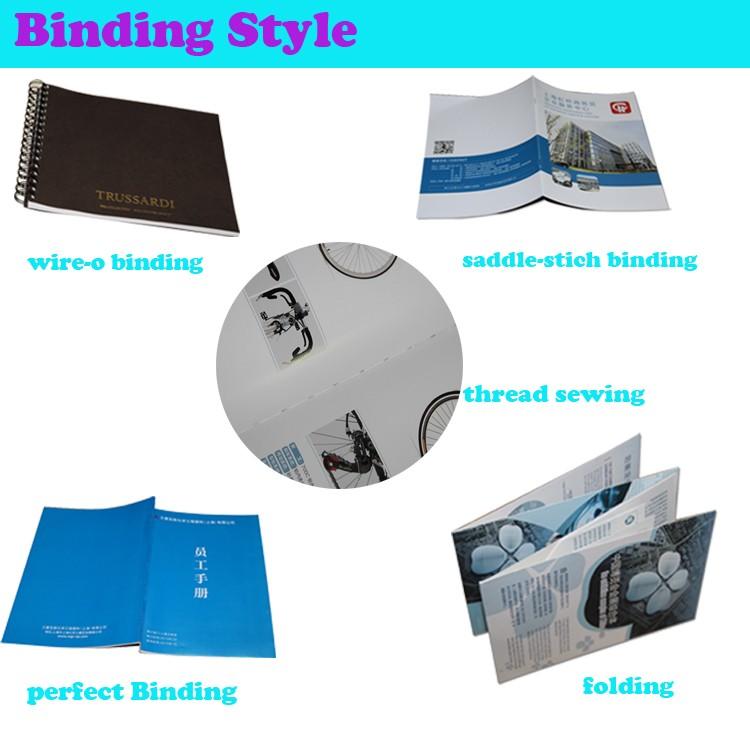Personalizado barato produto de impressão do folheto de papel e impressão do folheto da empresa