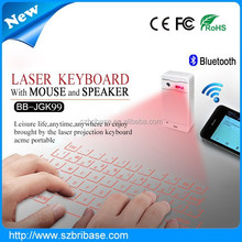 Real Factory price Magic Cube wireless virtual Keyboard Laser with mouse&speaker for Iphone Ipad laptop Tablet PC...