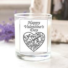 Frasco de vidrio Flavor velas, aromático velas, citronela día de san valentín vela