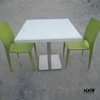 Absolute White Quartz Fastfood Tables for Modern Restaurant