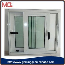 House and office tempered double glass PVC Window/pvc sliding glass window