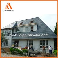 camouflage decorative composite stone slate roof shingles