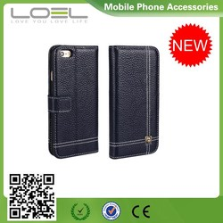 Brand New Genuine leather Flip case For Iphone6 Genuine Leather Case