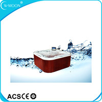 Luxurious 87pcs Jet Clear Acrylic Bathtub With TV For 3 Pillows outdoor swimming pool