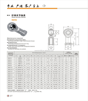 Spherical plain bearings rod ends miniature rod end ball bearing