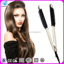 2015 High quality ionic ceramic flat iron fast heat design gorgeous hair straightener, electric equipment tools