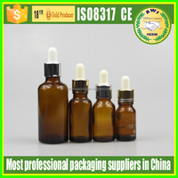 2015 top quality brown frosted bottle glass for essential oils