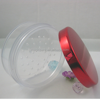 OEM cosmetic AS material loose powder compact case,cosmetic sifter jars,LB series