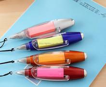 Mini led ball pen with Note Paper,note paper pen ,led pens