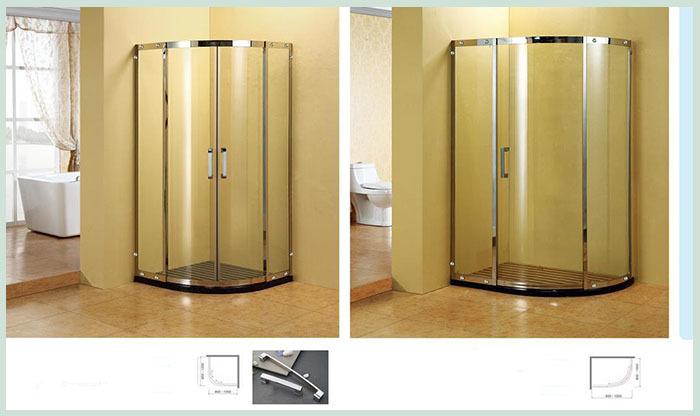 Nouveau style de douche porte de grange et compact cabines for Porte de douche sans cadre