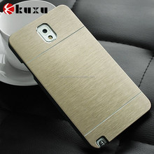 Luxury Metal Brush Aluminum+PC Material Hard case For Samsung Galaxy Note 3 Mobile Phone case Metal Back Cover