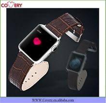 Black/Brown Crocodile Genuine Leather Bracelets for Apple Watch