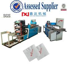 Napkin tissue paper folding machine/Automatic color printing & 1/4,1/8 folding table serviette tissue machine