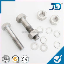 Standard size manufacturing machinery price stainless steel hex bolt and nut