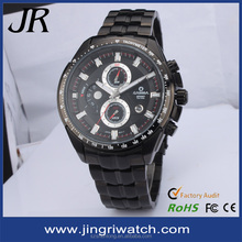 high quality stainless steel mens outdoor black watches for men