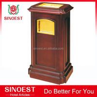 Hotel Supplies decorative indoor wooden trash bin, dustbin