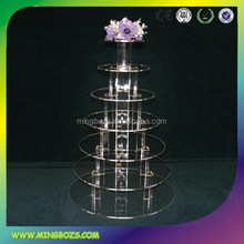 New 7 shelves round acrylic cake table