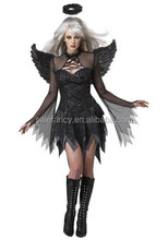 sexy fallen latex angel costumes to party halloween costumes china wholesale QAWC-2666