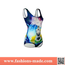 Colorful Spring Triangle Pattern One Piece Swimwear for Women