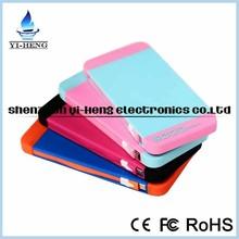 Promotional 5000mAh Colorful Li-polymer Mobile Portable Power Bank OEM/ODM service