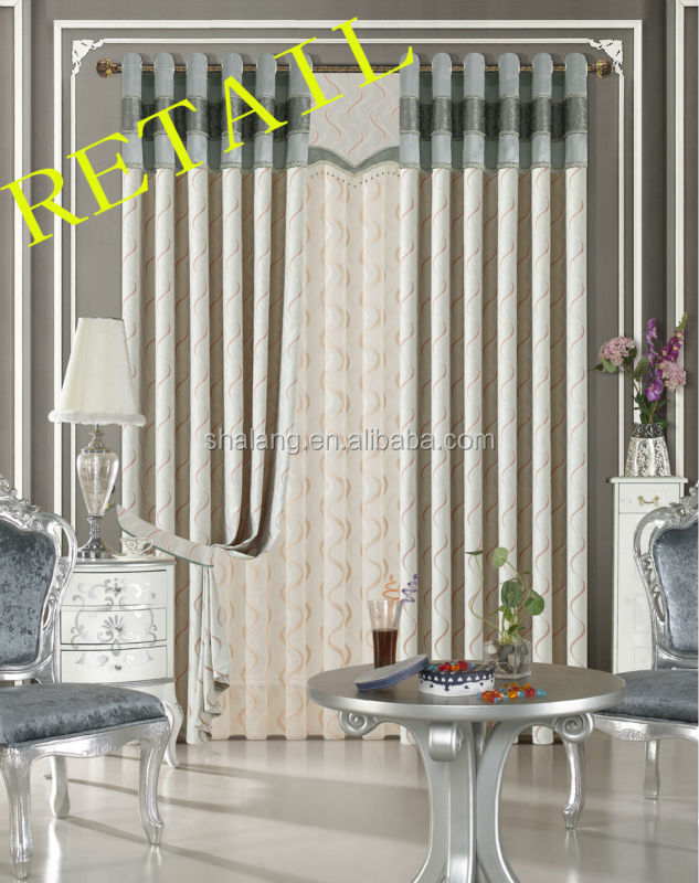 6 colours option towel Jacquard Grommet Ready Made Curtain And Drapery