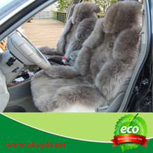 Luxury sheepskin fur car seat cover with high quality and low price