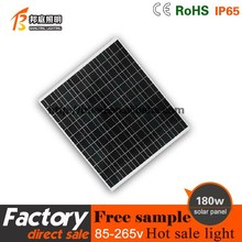 Blue High Efficiency 180W Polycrystalline Silicon TUV/CE Solar Power Panels 180w polysilicon solar panel for home use
