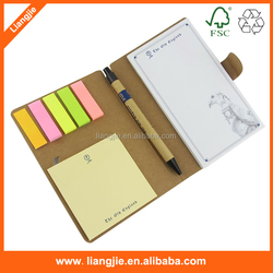 Hot sale customized fancy business gift set notepad with pen