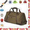 Europe style heavy duty canvas travel bag with leather handle