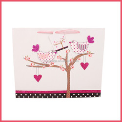 2015 hot sale 4C printing 3D paper gift bag for mothers day
