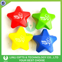Promotion Custom Five Star Stress Ball,Foam Ball,Antistress Ball For Kids