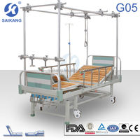 Orthopaedic frame beds along with rubber feet and castors