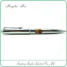 Elegant electroplated bright chromed metal silver pen