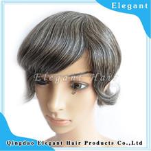 fine mono lace human hair men's toupee gray hair toupee