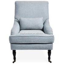 Estilo francés del vintage tapizados francés sillón de orejas / ala de nuevo presidente / butaca