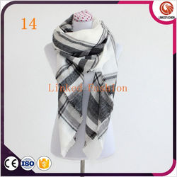 red and blue plaid scarf,winter wholesale 18 colors women fashion tartan scarf red and blue plaid scarf