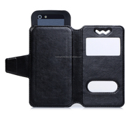 Supreme PU Leather Phone Case Cover of China Supplyer Wholeseller Universal Cheap Phone Case For 3.3-3.8 Inches iPhone