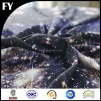 Factory custom high quality digital galaxy printed fabric