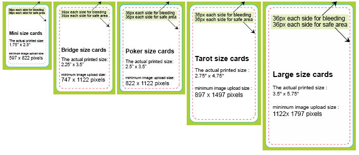 Poker card size