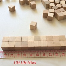 100pcs 10mm Mini Unfinished wooden game cube,Kids Gift toy Wood building blocks