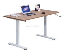 Adjustable Height Manual Control Computer Table