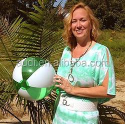 16'' inflatable Translucent Green & White Beach Balls