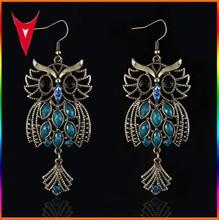 2015 New Retro Bird Shaped Earrings Gold Plated Earrings