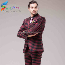 In-Stock hot sale high end polyester/cotton men suit neck design