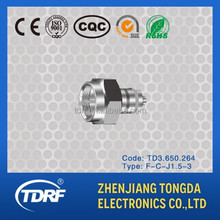 F type rf coaxial connector for broadcast,rg6 compression f connector,fast connector