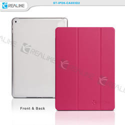 Smart Cover+Transparent Back Cover For iPad Air 2 leather protective