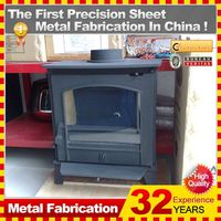 Luxury electric fireplace Kindle cast iron indoor fireplace customized